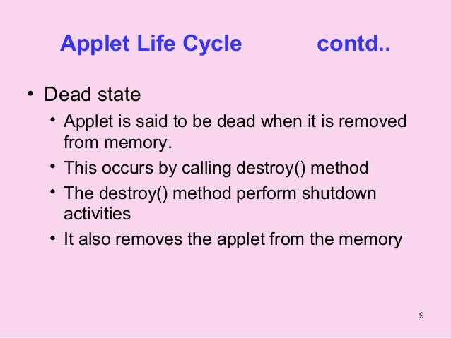applet cycle