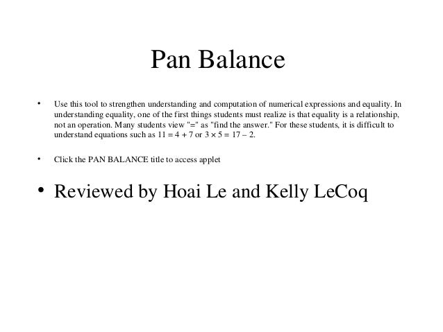 the lesson on pan balance essay Outdoor education lesson plans and worksheets from thousands of teacher-reviewed resources to help you inspire students learning.