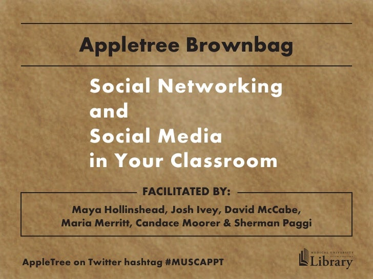 Appletree Brownbag             Social Networking             and             Social Media             in Your Classroom   ...
