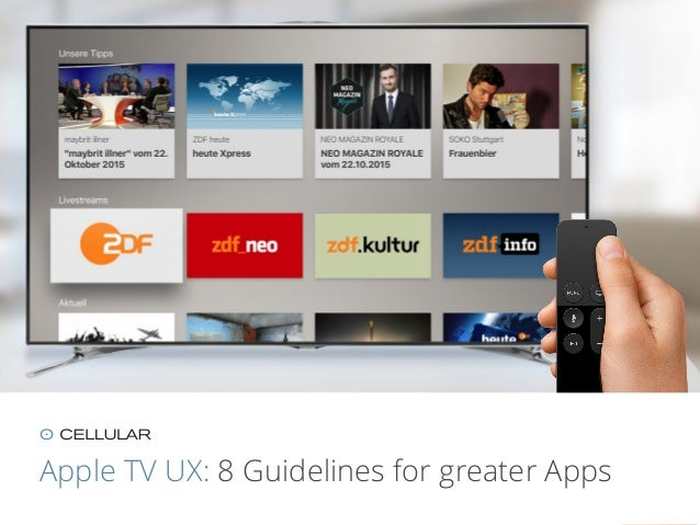 Apple TV UX: 8 Guidelines for greater Apps