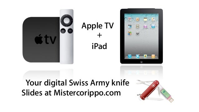 Apple TV iPad + Your digital Swiss Army knife Slides at Mistercorippo.com