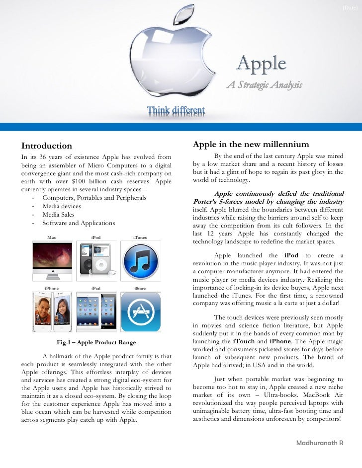 strategic analysis of apple Looking for the best apple inc swot analysis click here to find out apple's strengths, weaknesses, opportunities and threats.
