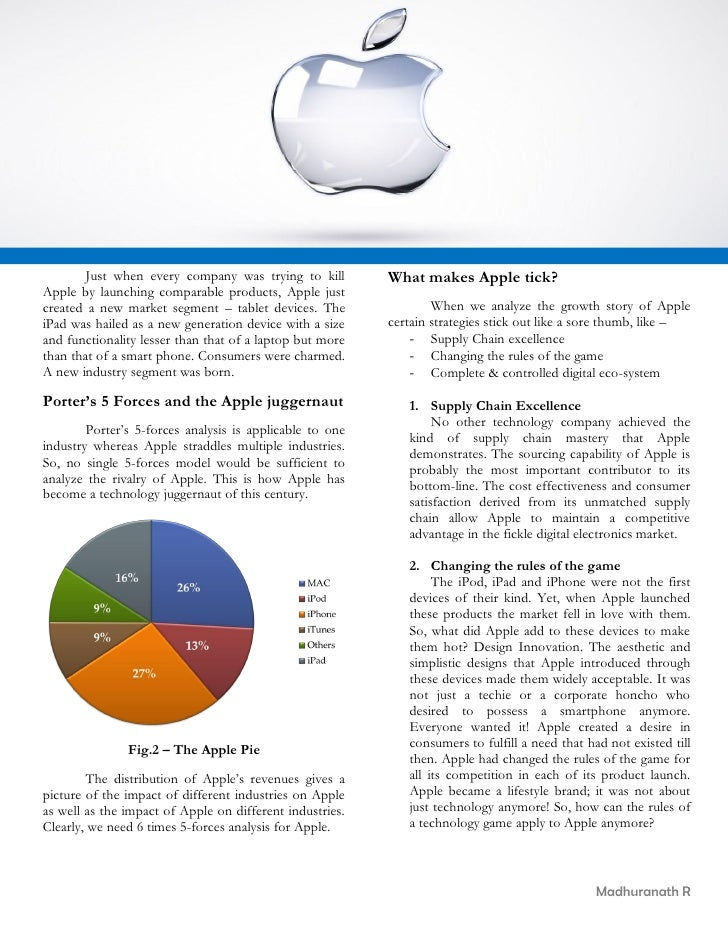 apple strategy case study Apple business strategy can be classified as product differentiation in   analytical strategic frameworks in business studies such as swot,.