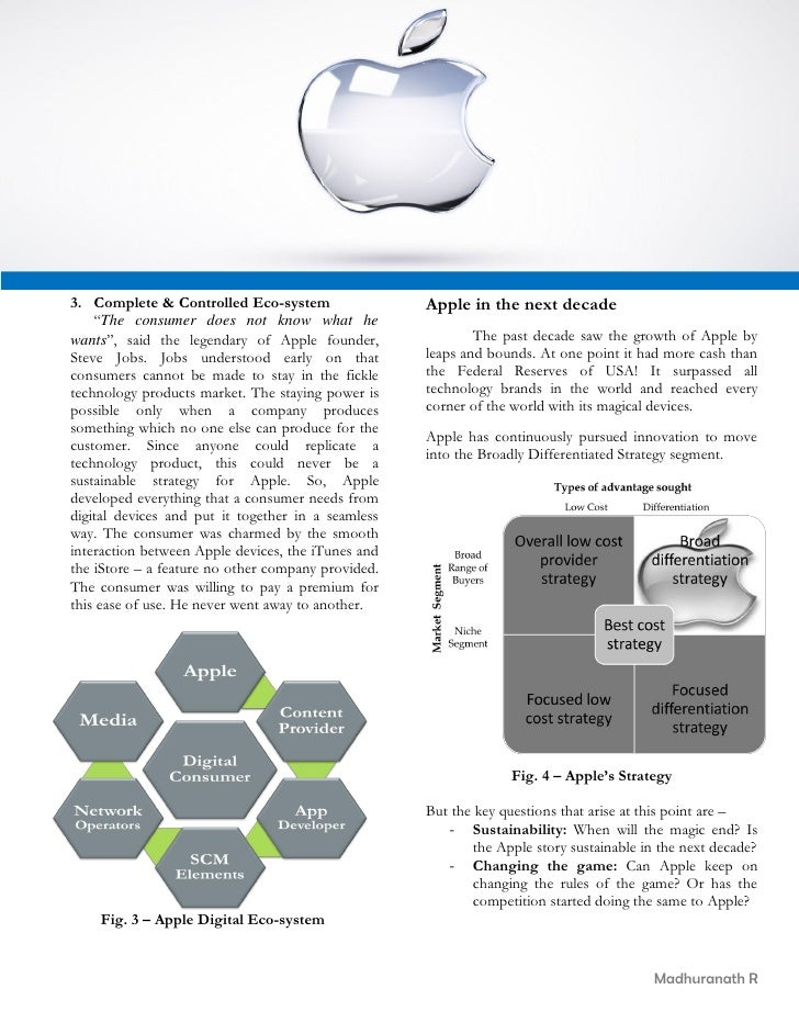apple strategy analysis This case about apple, accompanied by a video, press articles, lecture slides and a teaching note, looks into the application of blue ocean strategy for managing a business portfolio at the corporate level.