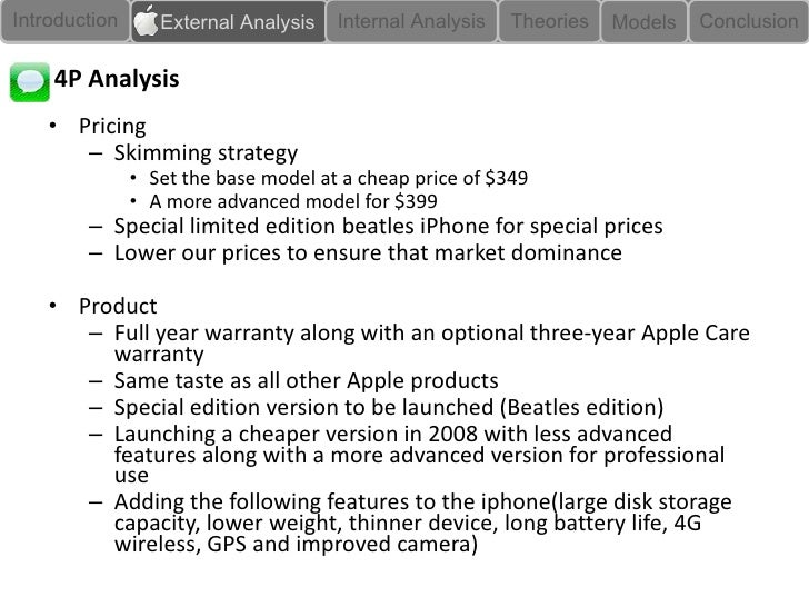 apple marketing strategies essay Apple inc's marketing mix or 4p's (product, place, promotion, price): this case study & analysis shows how apple's marketing mix supports the firm's success.