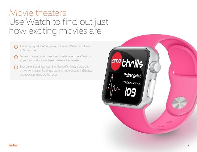 24 Movie theaters Use Watch to find out just how exciting movies are 1 2 3 Ticketing is just the beginning of what Watch c...
