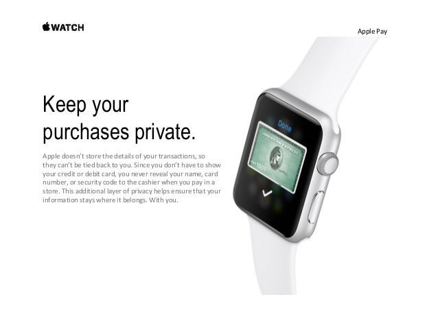ApplePay Accepted in stores everywhere. With more added every day. Apple PayletsyouuseApple Watchtopayinhundreds...