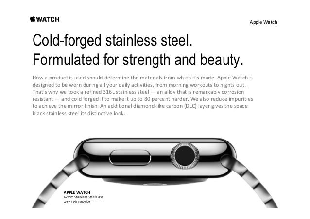 AppleWatch APPLEWATCH 42mmStainlessSteelCase withBlackClassicBuckle Brilliantly scratch-resistant sapphire crystal...