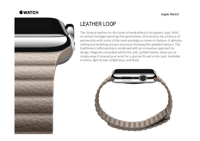 AppleWatch CLASSIC BUCKLE FromtherenownedECCOtanneryintheNetherlands,theDutchleather usedforthisbandismil...