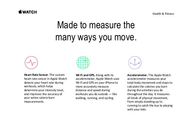 Health&Fitness Apple Watch helps you make progress an see results. Whetheryou'rewalking,running,cycling,orusingth...