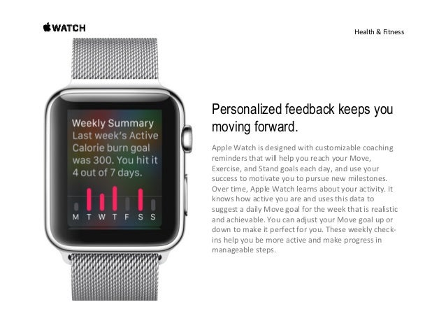 Health&Fitness See how far you've gone. And how far you've come. AppleWatchshowsyourdailyactivityataglance. To...