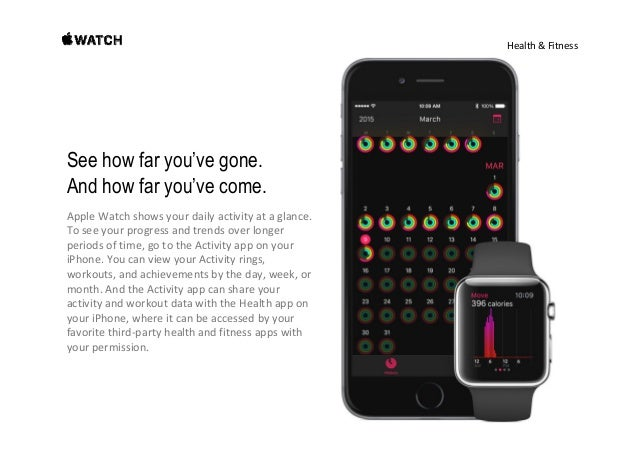 Health&Fitness Get a pat on the back, right on the wrist. Whenyoureachyourpersonalbestsorhitmilestones, AppleW...