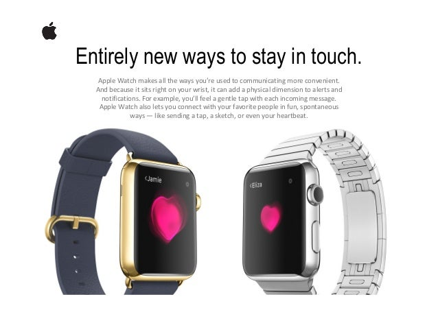 A smarter way to look at fitness. AppleWatchgivesyouacompletepictureofyourall‐dayactivity.Thethreeringsofth...