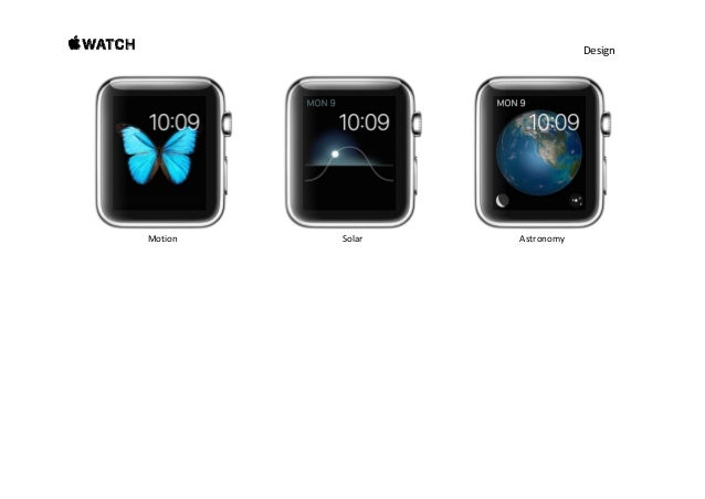 Design Find your style in three distinctive collections. TherearesomanywaystomakeApple Watchyourown.Tohelpyou...