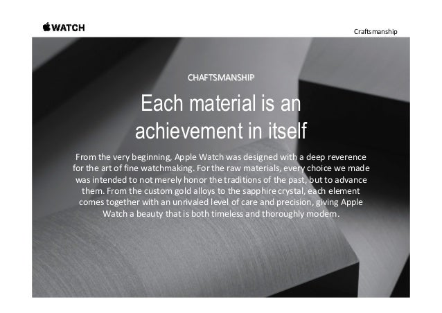 Craftsmanship Gold. A more solid 18 karats. Inspiredbytheinherentbeautyofgold,wecreated Apple WatchEditionin18...