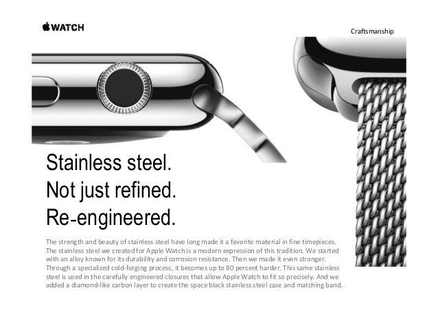 Craftsmanship Aluminum. Light, but no lightweight. ForApple WatchSport,westartedwith7000Series aluminum— thesame...