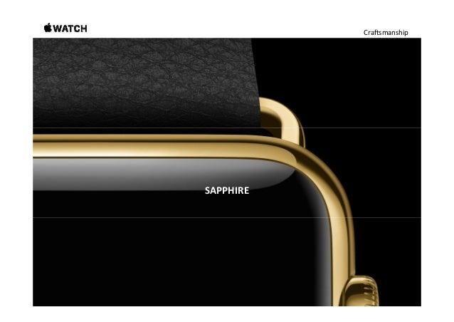 Craftsmanship Sapphire. Beautifully shields Apple Watch from the world. Sapphireisthesecond‐hardesttransparentsubstan...