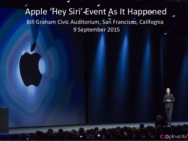 Apple 'Hey Siri' Event, as it Happened