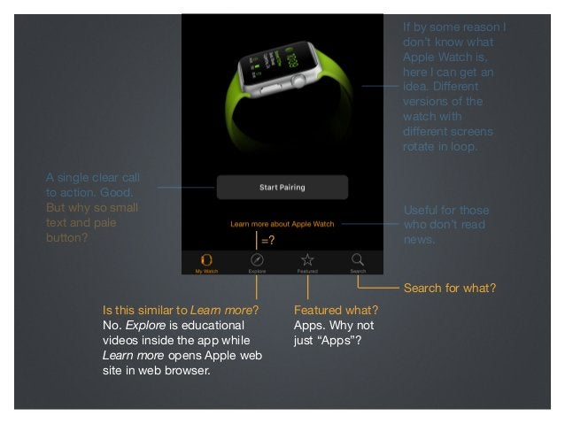 If by some reason I don't know what Apple Watch is, here I can get an idea. Different versions of the watch with different s...