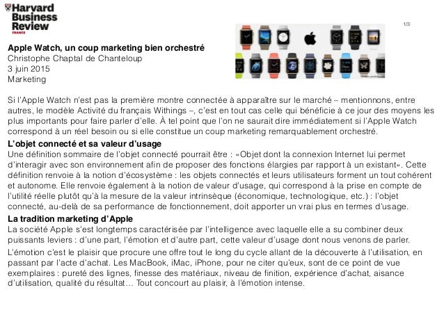 Apple Watch, un coup marketing bien orchestré Christophe Chaptal de Chanteloup 3 juin 2015 Marketing Si l'Apple Watch n'es...