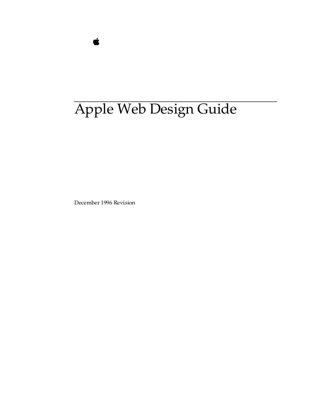 Apple Web Design Guide December 1996 Revision