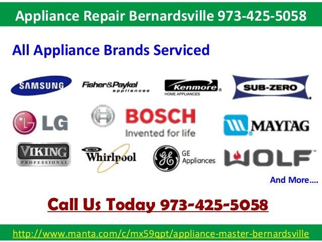 Appliance Repair Bernardsville 973-425-5058 Slide 3