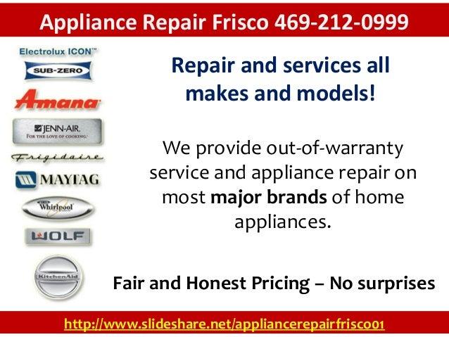 Appliance Repair Frisco 469 212 0999