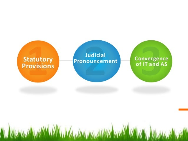 Statutory Provisions Judicial Pronouncement Convergence of IT and AS