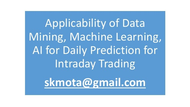 Machine learning for trading strategies