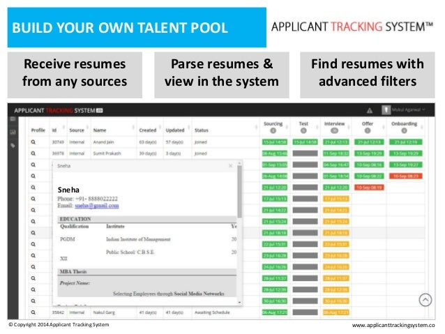 resume applicant tracking system