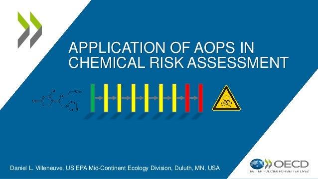 APPLICATION OF AOPS IN CHEMICAL RISK ASSESSMENT Daniel L. Villeneuve, US EPA Mid-Continent Ecology Division, Duluth, MN, U...