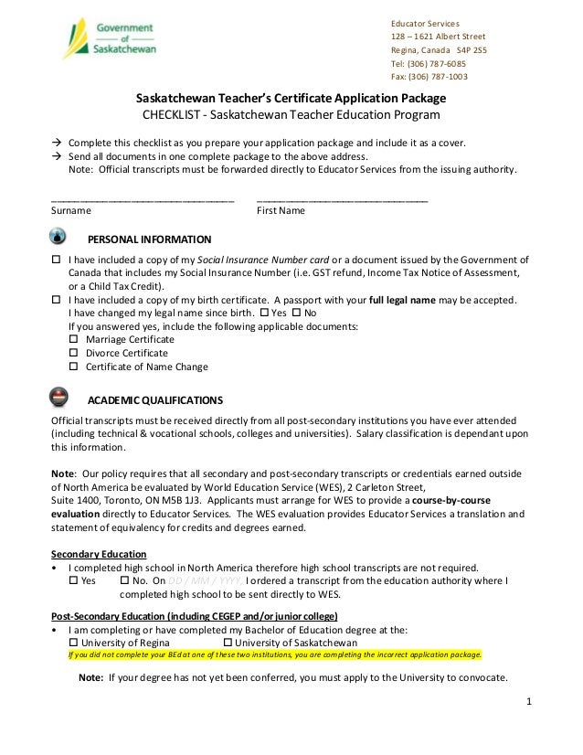 Application package-sask-tep