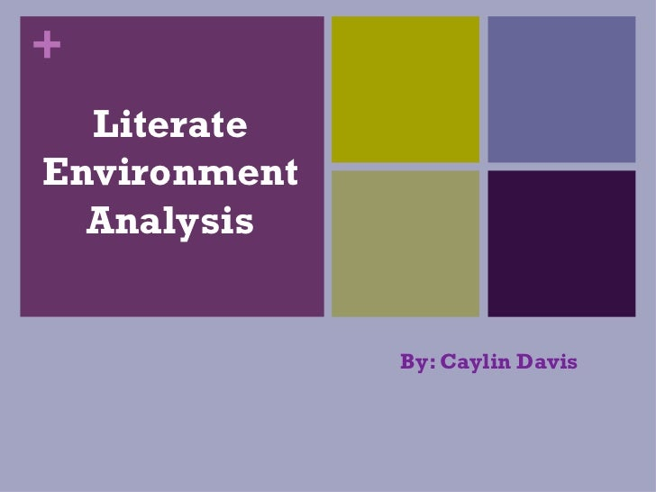 Literate Environment Analysis By: Caylin Davis