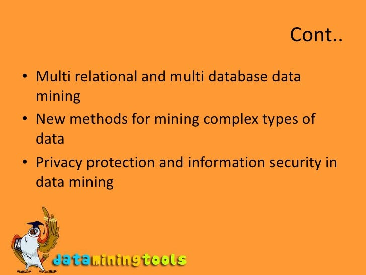 Application and trends in data mining ppt