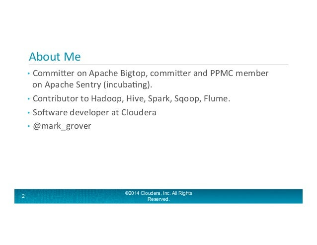 Application architectures with Hadoop and Sessionization in MR Slide 2