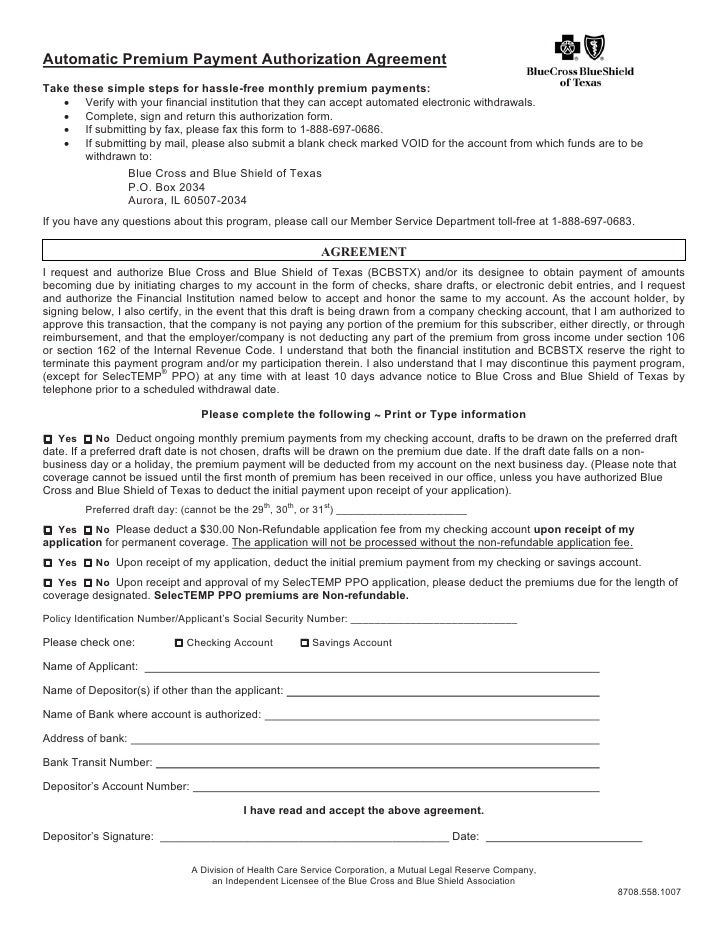 Application blue cross adv and choice