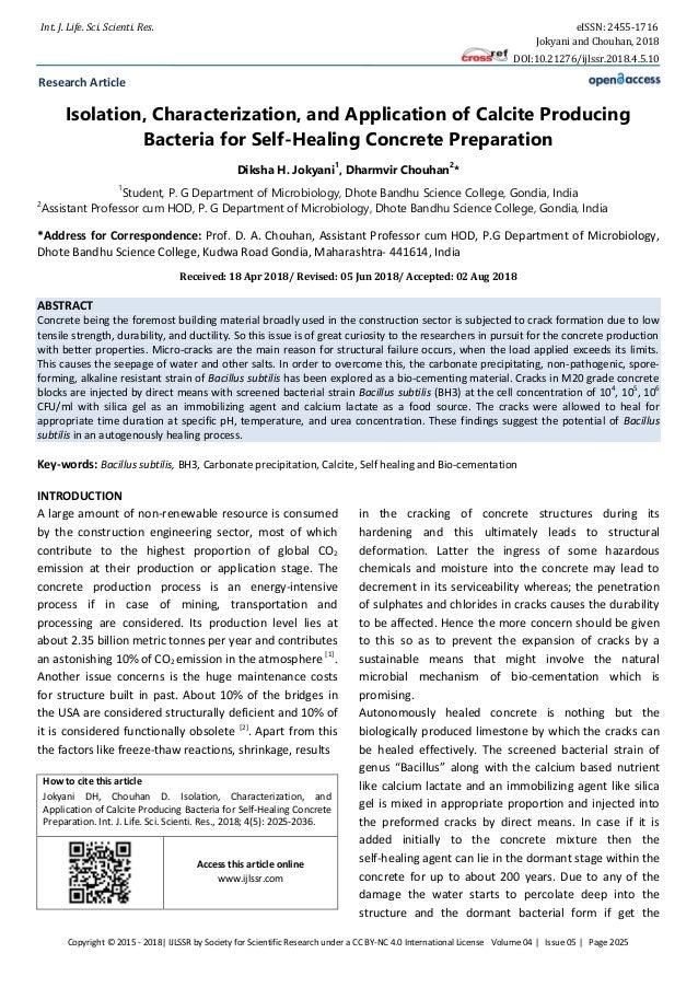 Int. J. Life. Sci. Scienti. Res. eISSN: 2455-1716 Jokyani and Chouhan, 2018 DOI:10.21276/ijlssr.2018.4.5.10 Copyright © 20...