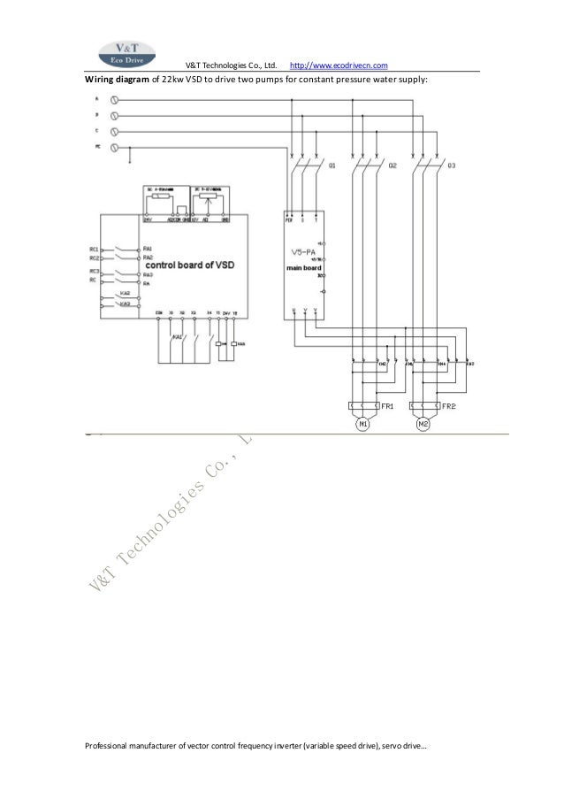 Application case of variable speed drive for multi pump constant pres…