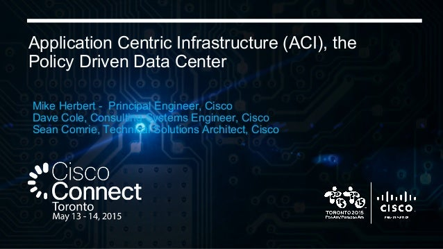 © 2015 Cisco and/or its affiliates. All rights reserved. Cisco Public Application Centric Infrastructure (ACI), the Policy...