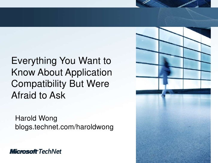 Application compatibility final