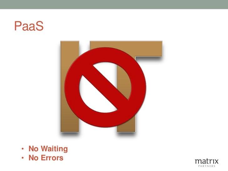 PaaS • No Waiting • No Errors