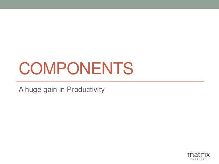 COMPONENTSA huge gain in Productivity
