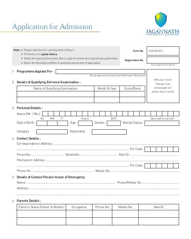 application form sode