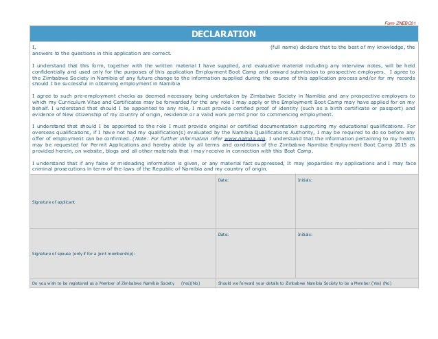 application form slideshare