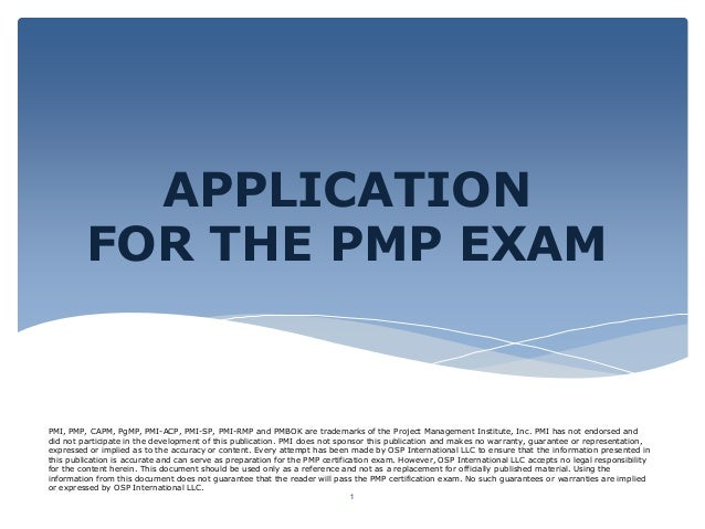 PMI, PMP, CAPM, PgMP, PMI-ACP, PMI-SP, PMI-RMP and PMBOK are trademarks of the Project Management Institute, Inc. PMI has ...