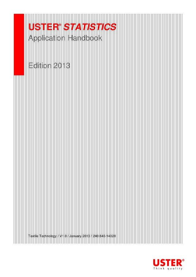 Application handbook uster statistics 2013 for Ashrae 62 1 table 6 1