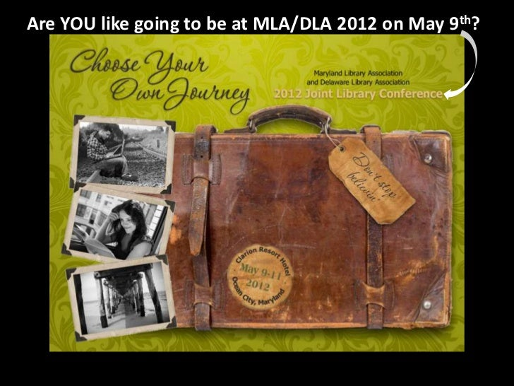 Are YOU like going to be at MLA/DLA 2012 on May 9th?