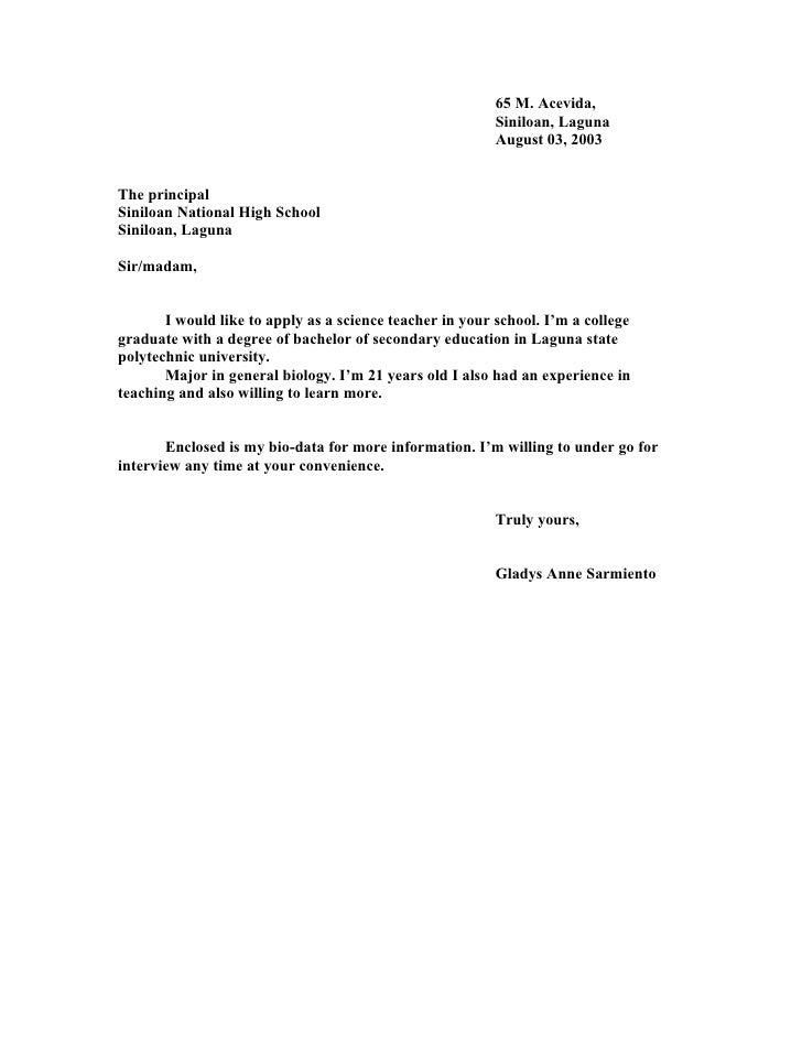 Application Letters – Application Letter