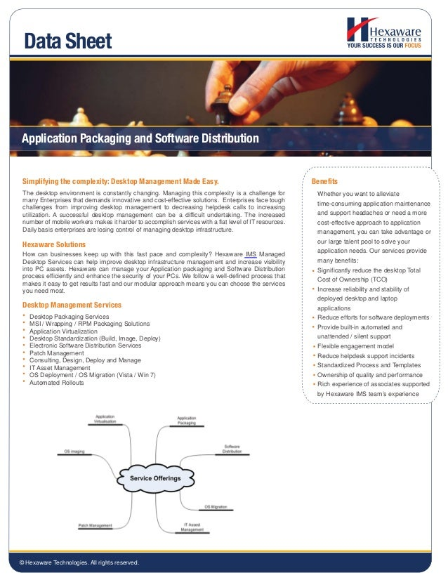 Application Packaging and Software Distribution