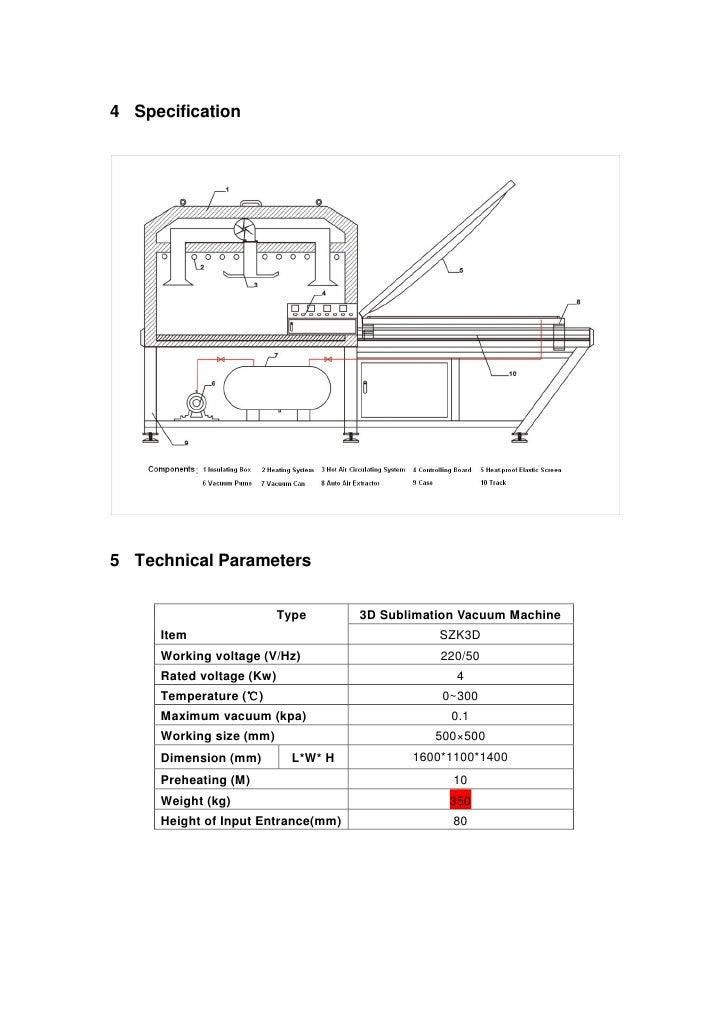 Application manual of 3 d sublimation vacuum machine